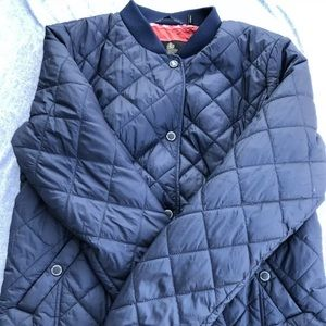 Barbour of England USA 6 women Quilted Dark Blue